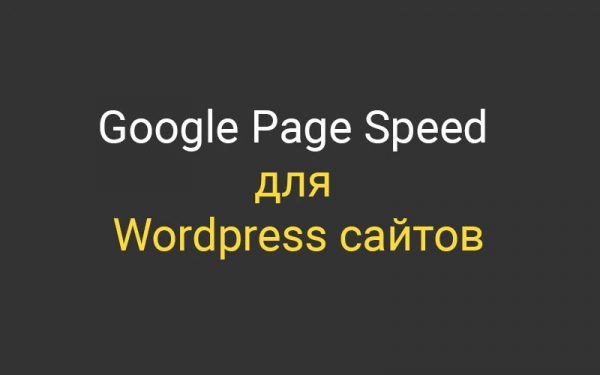 Google Page Speed для Wordpress  сайта и скорость загрузки страниц