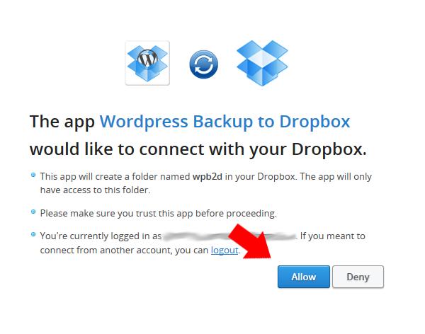 Подключаем учетную запись Dropbox к WordPress сайту
